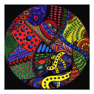 Ojo del caos - pintura colorida del doodle arte fotográfico