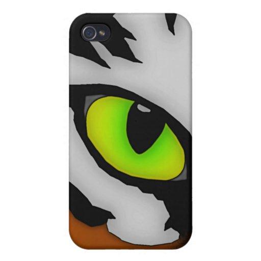 Ojo del caso del iPhone 4 del tigre iPhone 4 Protectores