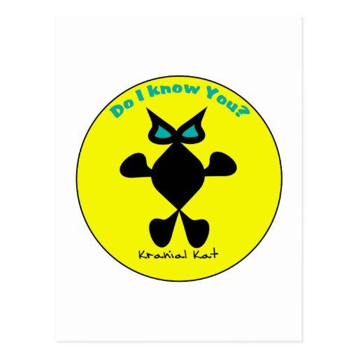 Ojo del cobalto del gato, gato del ojo del cobalto tarjetas postales