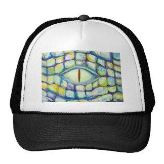 Ojo del cocodrilo (pintura del simbolismo del ojo) gorras