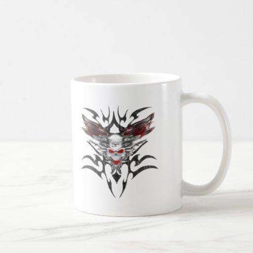 ojo del cráneo-tran del horus taza de café