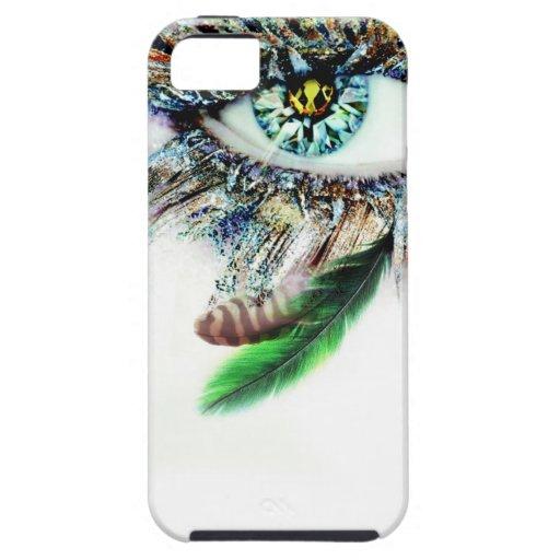 Ojo del diamante con las plumas funda para iPhone SE/5/5s