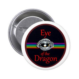 Ojo del diseño del arte de la fantasía del dragón pin redondo de 2 pulgadas