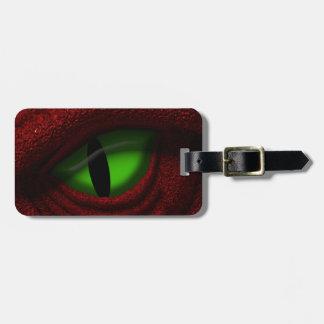 Ojo del dragón etiqueta para maleta