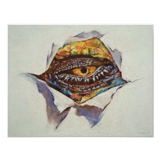 Ojo del dragón invitación 10,8 x 13,9 cm