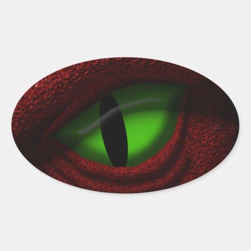 Ojo del dragón colcomanias de oval personalizadas