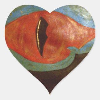 ojo del dragón calcomanías corazones personalizadas