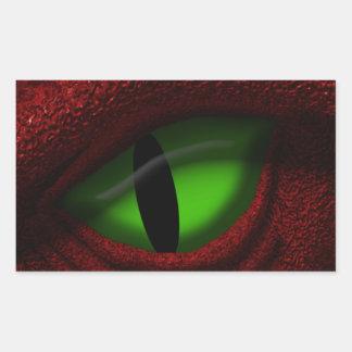 Ojo del dragón pegatina rectangular
