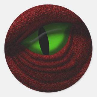 Ojo del dragón pegatina redonda