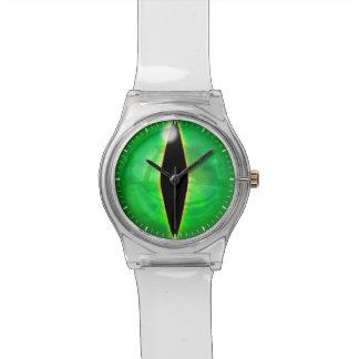 Ojo del dragón verde relojes de mano