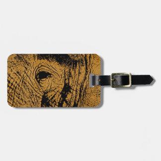 Ojo del elefante etiquetas para maletas