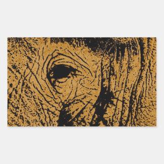 Ojo del elefante pegatina rectangular