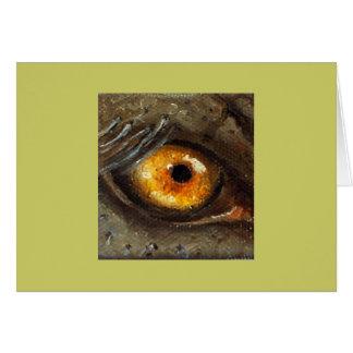 Ojo del elefante tarjeta de felicitación