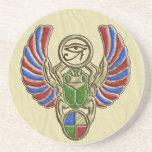 Ojo del escarabajo de Horus Posavasos Cerveza