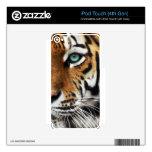 Ojo del estampado de animales del tigre de Bengala iPod Touch 4G Calcomanías