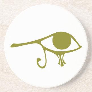 Ojo del fango de Horus Posavasos Personalizados