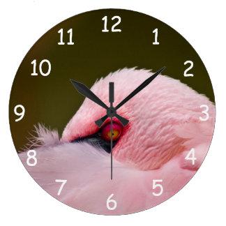 Ojo del flamenco reloj redondo grande