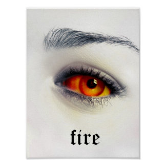 Ojo del fuego póster