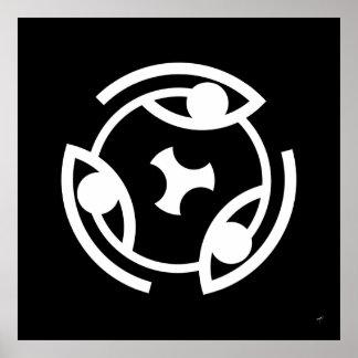 Ojo… del Glyph circular - poster