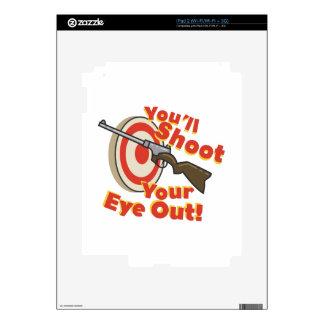 Ojo del hollín hacia fuera calcomanías para iPad 2
