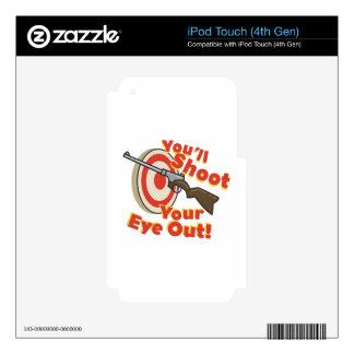 Ojo del hollín hacia fuera iPod touch 4G calcomanías