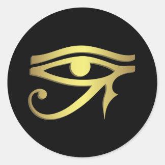 Ojo del horus pegatina redonda