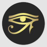 Ojo del horus pegatinas redondas
