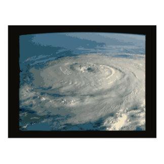 Ojo del huracán tarjeta postal