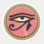 Ojo del icono de Horus Pegatina Redonda