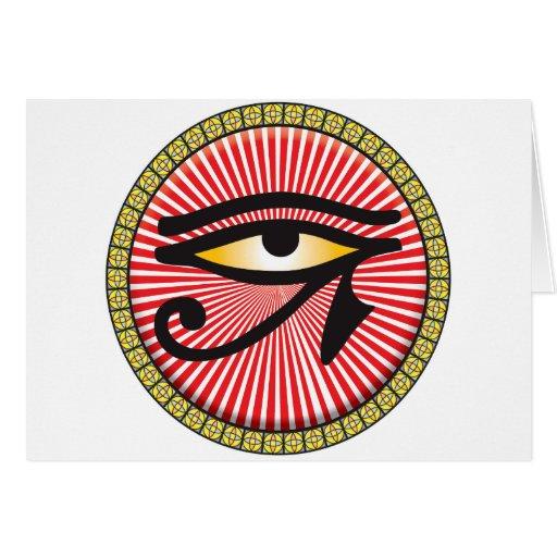 Ojo del icono de Horus Tarjetas