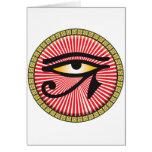 Ojo del icono de Horus Tarjeton