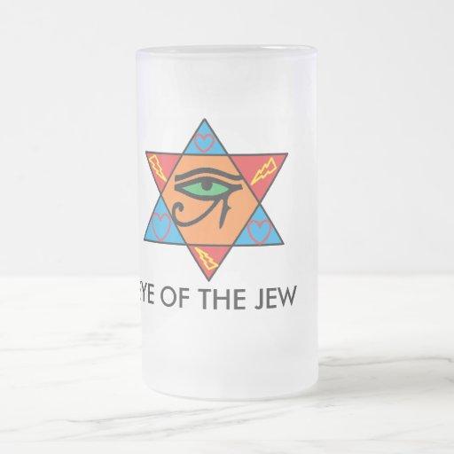 ojo del judío, OJO DEL JUDÍO Jarra De Cerveza Esmerilada