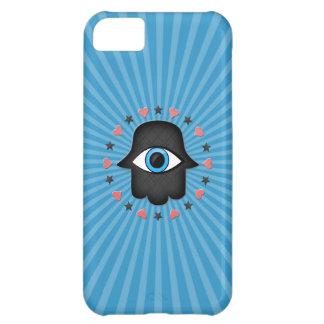 ojo del khamsa del hamsa a disposición de la diosa funda para iPhone 5C