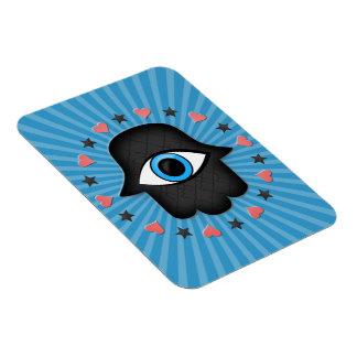 ojo del khamsa del hamsa a disposición de la diosa imán de vinilo