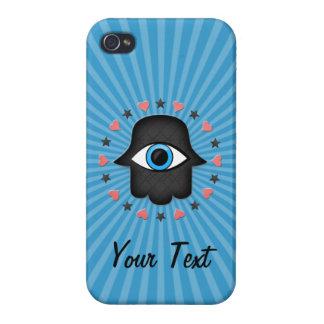 ojo del khamsa del hamsa a disposición de la diosa iPhone 4 carcasa