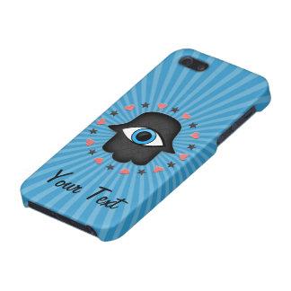 ojo del khamsa del hamsa a disposición de la diosa iPhone 5 fundas