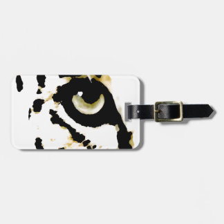 Ojo del leopardo etiqueta para equipaje