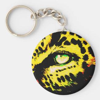 Ojo del leopardo llavero redondo tipo pin