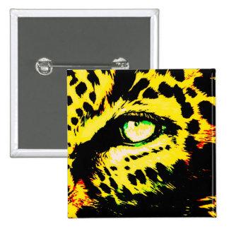 Ojo del leopardo pin cuadrado