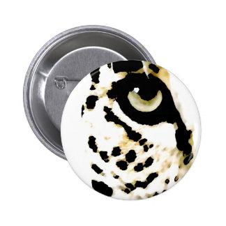Ojo del leopardo pin redondo de 2 pulgadas