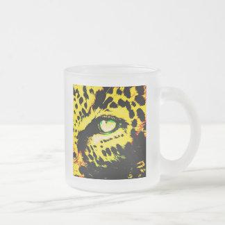 Ojo del leopardo taza de cristal