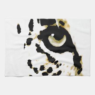 Ojo del leopardo toalla de mano
