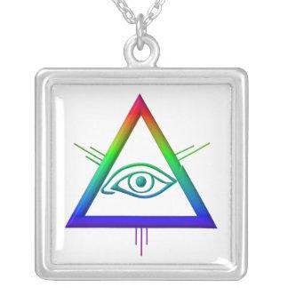 Ojo del ojo de dios/de dios colgante cuadrado