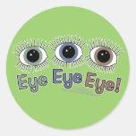 ¡Ojo del ojo del ojo! Etiquetas Redondas