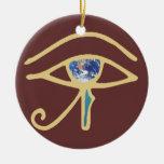 Ojo del oro de la tierra ornamentos de reyes