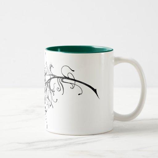 Ojo del pavo real tazas de café