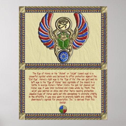 Ojo del poster de la información de Horus Póster