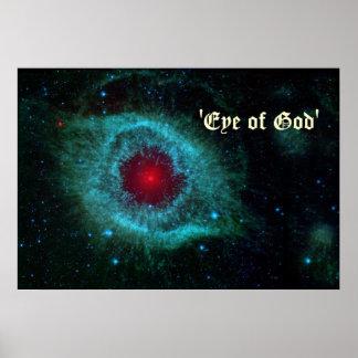 Ojo del poster de la nebulosa de la hélice de God