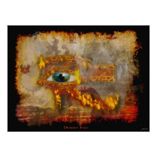 Ojo del poster egipcio sagrado del arte de Horus