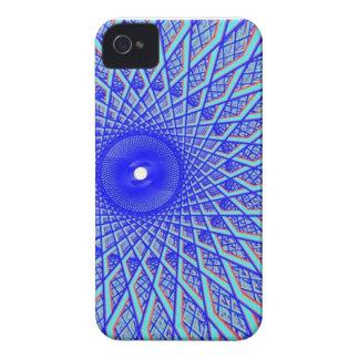 ojo del rayo del azul de Barely There del iPhone 4 iPhone 4 Protectores